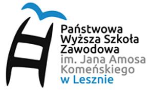 Logo Państwowej Wyższej Szkoły Zawodowej im. Jana Amosa Komeńskiego w Lesznie.