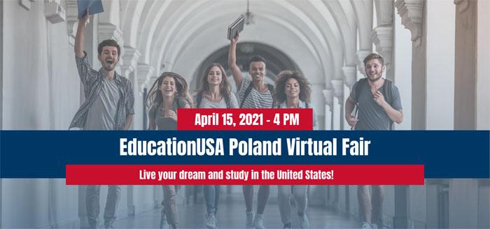 Grafika promująca studia w USA