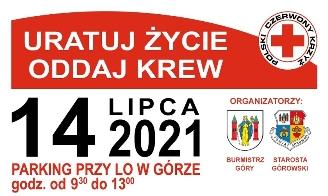 """Plakat promujący akcję """"Uratuj życie, oddaj krew""""."""